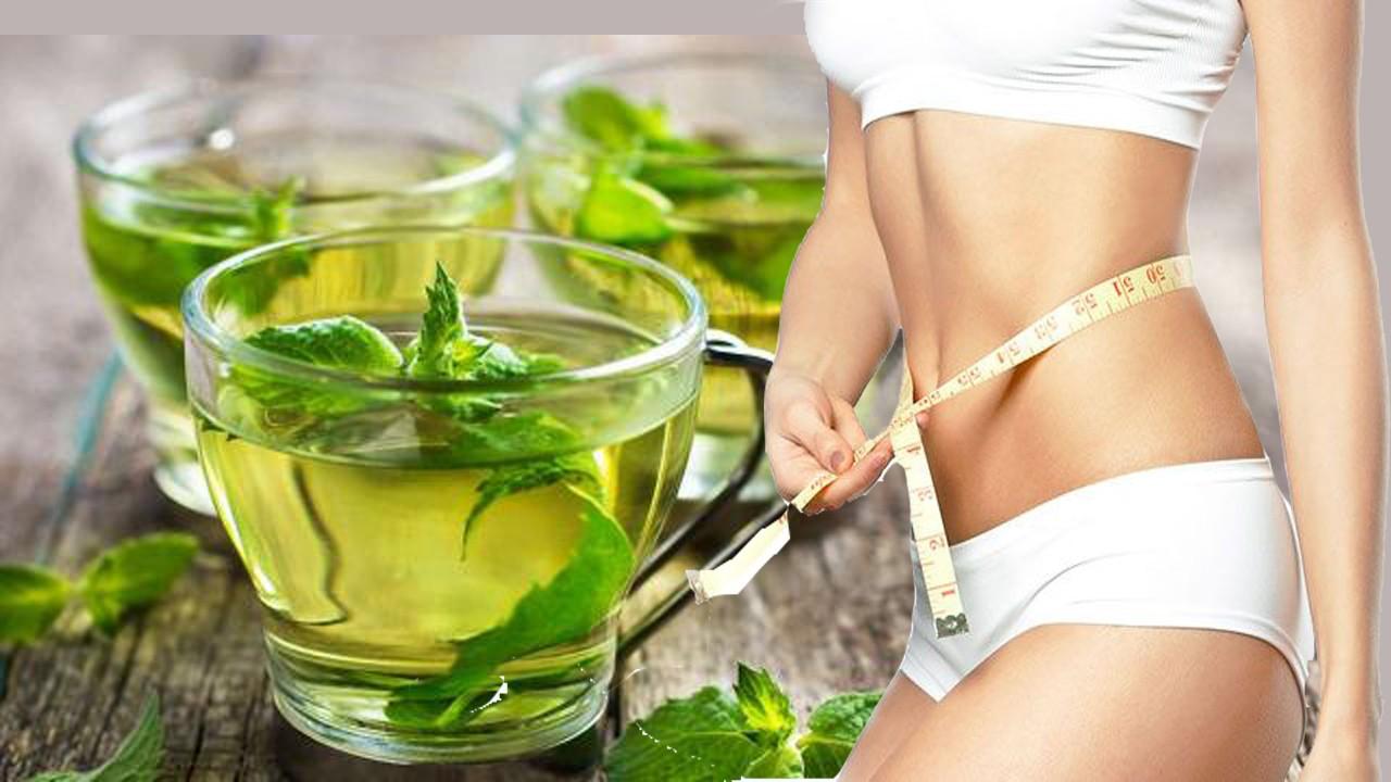 chá de menta e laranjaparareduzir a gordura da barriga