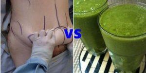 lipoaspiração ou perda de peso natural