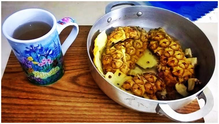 chá caseiro de canela com abacaxi para secar a barriga